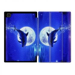 Housse Smart Cover Pour Samsung Galaxy Tab A7 (10.4) Dauphin Lune