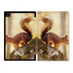 Housse Smart Cover Pour Samsung Galaxy Tab A7 (10.4) Ecureuil Bois