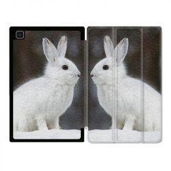 Housse Smart Cover Pour Samsung Galaxy Tab A7 (10.4) Lapin Blanc