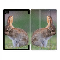 Housse Smart Cover Pour Samsung Galaxy Tab A7 (10.4) Lapin Marron