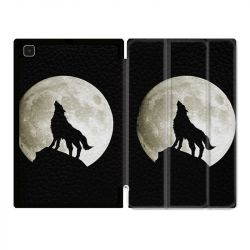Housse Smart Cover Pour Samsung Galaxy Tab A7 (10.4) Loup Noir