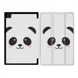 Housse Smart Cover Pour Samsung Galaxy Tab A7 (10.4) Panda Blanc