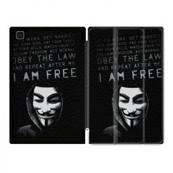 Housse Smart Cover Pour Samsung Galaxy Tab A7 (10.4) Anonymous I am free