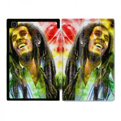 Housse Smart Cover Pour Samsung Galaxy Tab A7 (10.4) Bob Marley Color