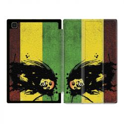 Housse Smart Cover Pour Samsung Galaxy Tab A7 (10.4) Bob Marley Drapeau