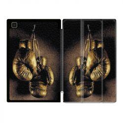 Housse Smart Cover Pour Samsung Galaxy Tab A7 (10.4) Boxe Gant Vintage