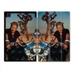 Housse Smart Cover Pour Samsung Galaxy Tab A7 (10.4) Johnny Hallyday Moto