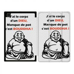Housse Smart Cover Pour Samsung Galaxy Tab A7 (10.4) Humour Bouddha