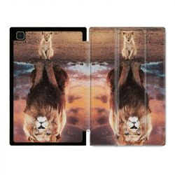 Housse Smart Cover Pour Samsung Galaxy Tab A7 (10.4) Lion Reflet