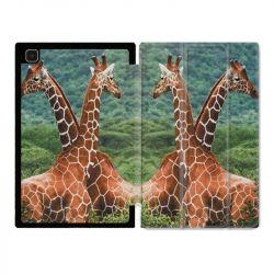 Housse Smart Cover Pour Samsung Galaxy Tab A7 (10.4) Savane Girafe Duo