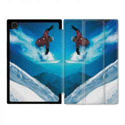 Housse Smart Cover Pour Samsung Galaxy Tab A7 (10.4) Snowboard Saut