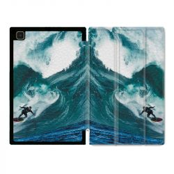 Housse Smart Cover Pour Samsung Galaxy Tab A7 (10.4) Surf Vague