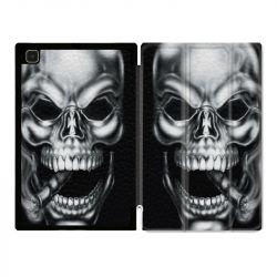 Housse Smart Cover Pour Samsung Galaxy Tab A7 (10.4) Tete de Mort Fume