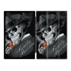 Housse Smart Cover Pour Samsung Galaxy Tab A7 (10.4) Tete de Mort family business