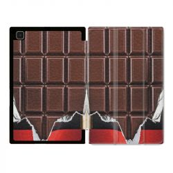 Housse Smart Cover Pour Samsung Galaxy Tab A7 (10.4) Trompe Oeil Chocolat