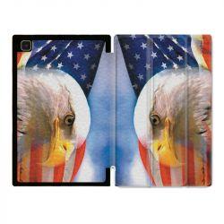 Housse Smart Cover Pour Samsung Galaxy Tab A7 (10.4) Amerique USA Aigle