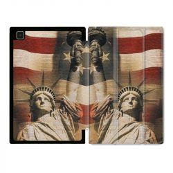 Housse Smart Cover Pour Samsung Galaxy Tab A7 (10.4) Amerique USA Statue liberté