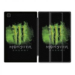 Housse Smart Cover Pour Samsung Galaxy Tab A7 (10.4) Monster Energy Vert
