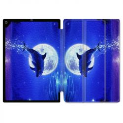 Housse Smart Cover pour Ipad Air 3 / Pro 10.5 Dauphin Lune