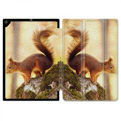 Housse Smart Cover pour Ipad Air 3 / Pro 10.5 Ecureuil Bois