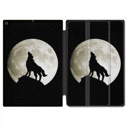 Housse Smart Cover pour Ipad Air 3 / Pro 10.5 Loup Noir