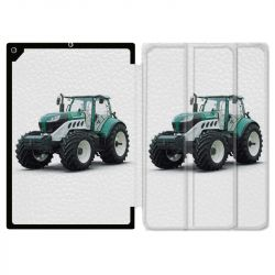 Housse Smart Cover pour Ipad 9.7 (NO VERSION PRO) Agriculture Tracteur Blanc