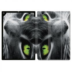 Housse Smart Cover pour Ipad 9.7 (NO VERSION PRO) Chat Vert