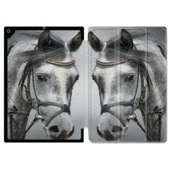 Housse Smart Cover pour Ipad 9.7 (NO VERSION PRO) Cheval Blanc