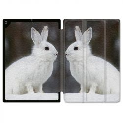Housse Smart Cover pour Ipad 9.7 (NO VERSION PRO) Lapin Blanc