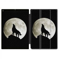 Housse Smart Cover pour Ipad 9.7 (NO VERSION PRO) Loup Noir
