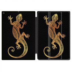 Housse Smart Cover pour Ipad 9.7 (NO VERSION PRO) Animaux Maori Lezard Noir