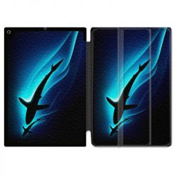 Housse Smart Cover pour Ipad 9.7 (NO VERSION PRO) Requin Noir