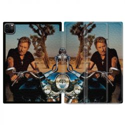 Housse Smart Cover pour Ipad 11 Pro 2020 Johnny Hallyday Moto