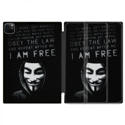 Housse Smart Cover pour Ipad 11 Pro 2020 Anonymous I am free