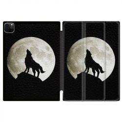 Housse Smart Cover pour Ipad 11 Pro 2020 Loup Noir