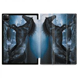 Housse Smart Cover pour Ipad 11 Pro 2020 Cheval Noir