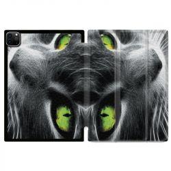 Housse Smart Cover pour Ipad 11 Pro 2020 Chat Vert