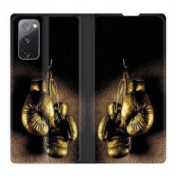 Housse Cuir Portefeuille Pour Samsung Galaxy S20 FE / S20FE Boxe Gant Vintage