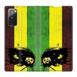 Housse Cuir Portefeuille Pour Samsung Galaxy S20 FE / S20FE Bob Marley Drapeau