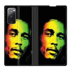Housse Cuir Portefeuille Pour Samsung Galaxy S20 FE / S20FE Bob Marley 2