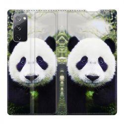 Housse Cuir Portefeuille Pour Samsung Galaxy S20 FE / S20FE Panda Color
