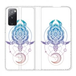 Housse Cuir Portefeuille Pour Samsung Galaxy S20 FE / S20FE Animaux Maori Tortue Color