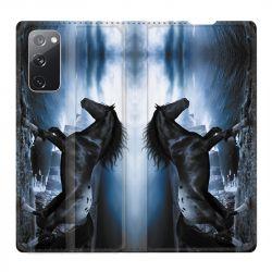 Housse Cuir Portefeuille Pour Samsung Galaxy S20 FE / S20FE Cheval Noir