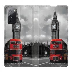Housse Cuir Portefeuille Pour Samsung Galaxy S20 FE / S20FE Angleterre London Bus