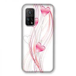 Coque Pour Xiaomi Mi 10T / Mi 10T Pro Coeur Rose Montant sur Blanc