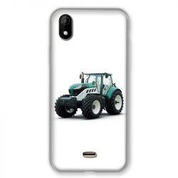 Coque Pour Wiko Y61 Agriculture Tracteur Blanc