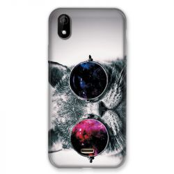 Coque Pour Wiko Y61 Chat Fashion