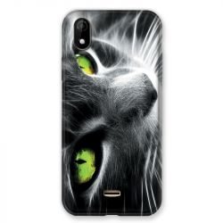 Coque Pour Wiko Y61 Chat Vert