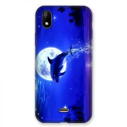 Coque Pour Wiko Y61 Dauphin Lune