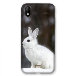 Coque Pour Wiko Y61 Lapin Blanc